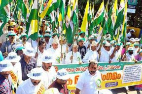 keral-farmers-Rally